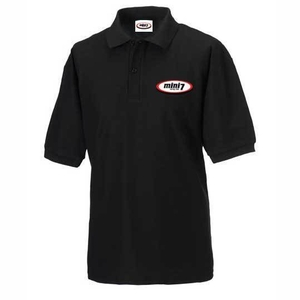 Mini 7 Classic Kids Polo - Black